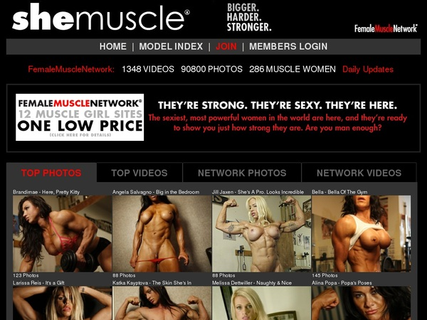 How To Get On She Muscle For Free