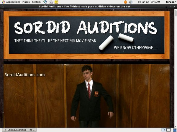 Sordid Auditions Pago
