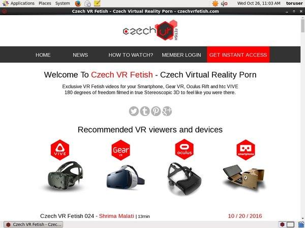 Czech VR Fetishaccounts