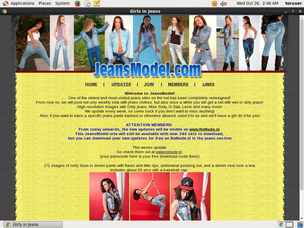 Jeans Model Registration Form