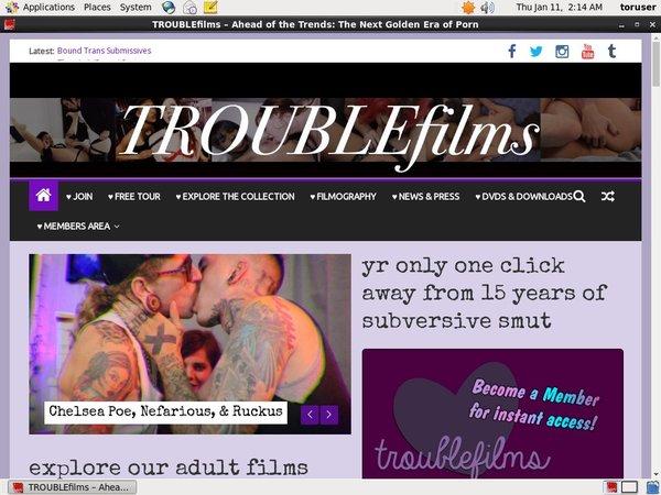 Trouble Films Passwords Accounts