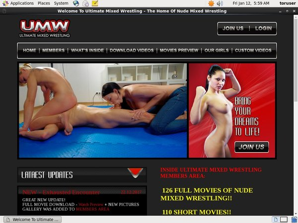 Ultimatemixedwrestling.com Cash
