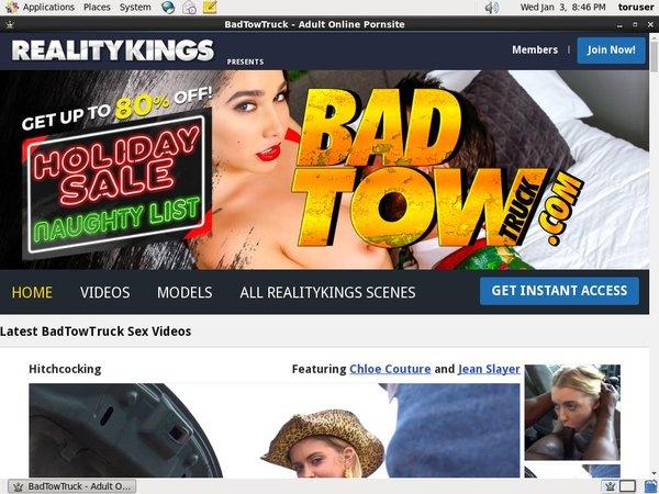 Badtowtruck.com Account New