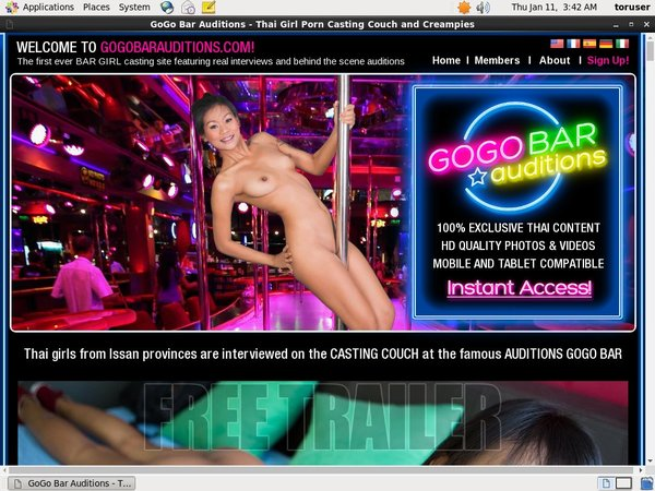 Gogobarauditions.com Account Gratis