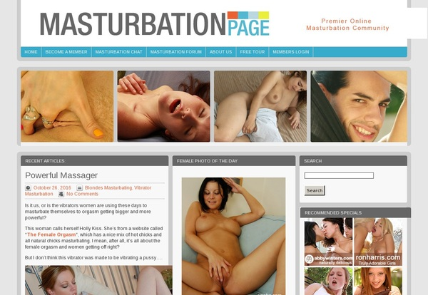 Masturbationpage Free Sign Up