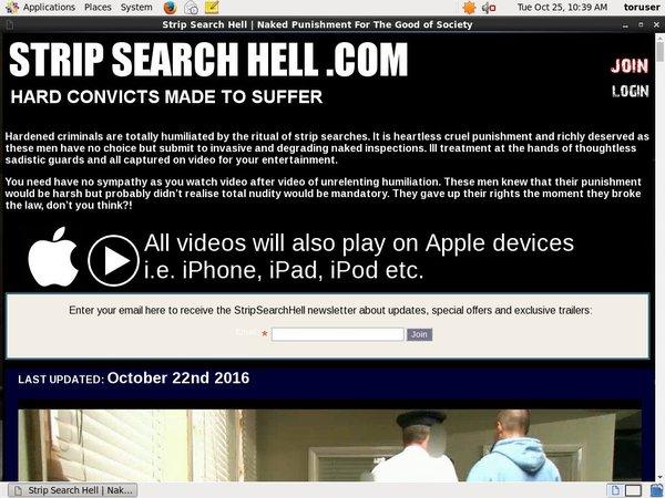 Strip Search Hell Stolen Password